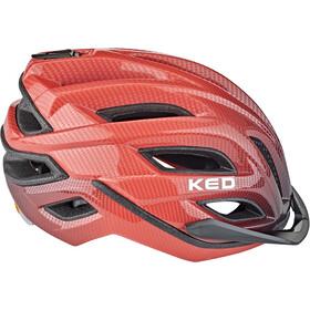 KED Champion Visor Helmet red black